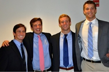 UNC Tar Heel co-captains for 2015 are (from left) Joey Sankey, Jimmy Bitter, Ryan Kilpatrick, Jake Bailey