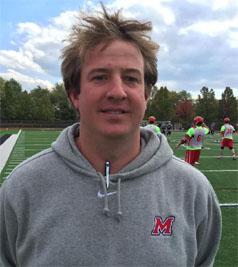 Marist coach Keegan Wilkinson
