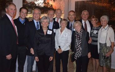 "Larry Berger is honored: ""Philly Crew"", fom left to right:  Scott Growney, Ryan Berger, Larry Berger, Julie Berger, Lee Stevens, John Doubman, Barbara Doubman, Randy Marks, Mary Packard, John Linehan, Barbara Linehan, and Valerie Walchak."