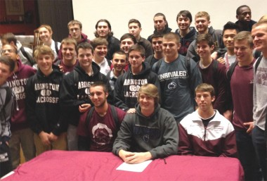 Abington's Hunter Jones and teammates