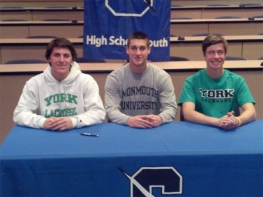Seated left to right: Kevin Witchey, Jake Henze, Brendan McGrath