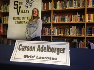 Carson Adelberger signs with Central Connecticut State University