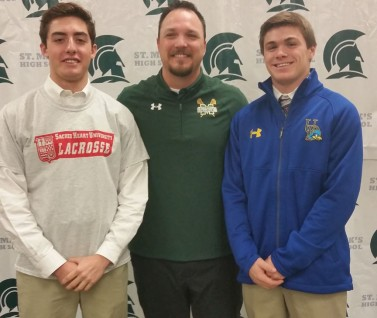 From L to R: Matt DePietro, Coach Mark Reynolds, Rhett Schweizer
