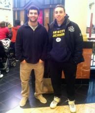Duke's L.C. Ricky Whelan Scholarship winners Tyler Butler (CB East, Penn State), Mikey Zadroga (Upper Merion, Marquette)