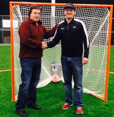 Duke's L.C. founder/head coach Ebe Helm (left) and, Lacrosse Evolution founder/owner Tom Slate - both graduates of Springfield-Delco - have joined their travel programs to form a new division of the Duke's LC