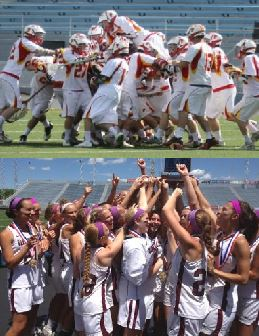 PA state champs in 2014 were Penncrest boys (top) and Garnet Valley girls
