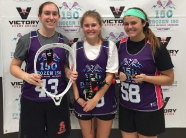 MVPs (from left) from Team Lions were: Allison Mervine (2017 GK, Archbishop Spalding-MD), Lyla Jones (2017 Mid, Potomac School-MD), & Gabrielle Cohen (2018 Def, Mainland Regional-NJ)