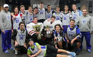 Everest Academy celebrates its third straight PILC AA title (Photo courtesy of NXT Events)
