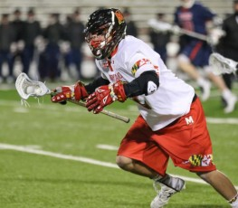 Jon Garino (Episcopal Academy) was dominant at the face-off X for Maryland (Photo by Rene Schleicher)