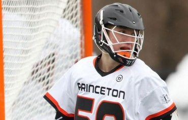 Princeton's Gavin McBride (Haverford School) notched the game-winner Saturday(Photo courtesy of Princeton Athletics)
