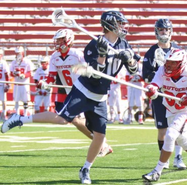 Monmouth's Chris Daly (Lower Merion) scores one of his three goals