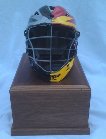 The Drew Bauer City Championship Memorial Game helmet goes to the winner of the game each year