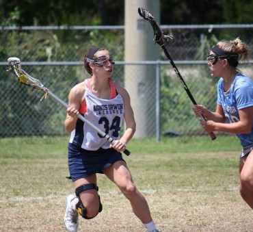 Laura Pansini, seen her in action against Ponte Vedra, FL, has recovered from ACL surgery to score her 100th career goal