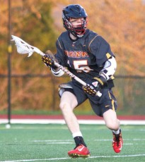 Ursinus College's Steve Smyrl (Garnet Valley) had a goal and an assist in Wednesday's win (Photo by Alan Simpson)