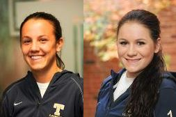 Trinity's Kathryn DeLillio (left) and Noelle Smith
