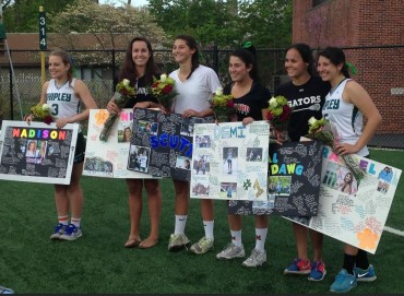 Shipley Seniors Demi Karalis, Alli Kothari, Anna Scutt, Rachel Shapiro, Madison Tucker, and Pinky Rowe were honored on Saturday.