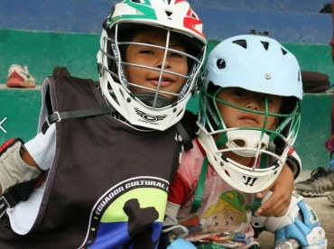 Young lacrosse players