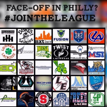 The club teams represented in Philly Faceoff league events