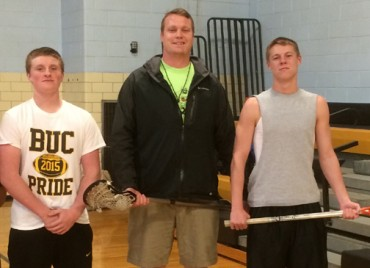 Interboro's Kevin Oreskovich and Brett McLaughlin flank new coach Tom Speer