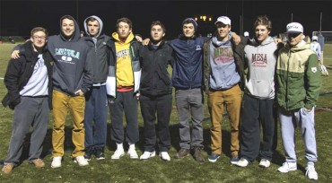 Mesa 2016 players, from left: Alex Demarco Penn; Ryan McNulty Loyola; Addison Muller; Tommy McNamara Notre Dame; Brian Wall; Nick Cardile Penn State; Forry Smith Johns Hopkins; Tyler Will, Penn State; Beau Kush, North Carolina