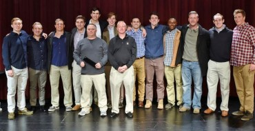 Haverford School's 2011 undefeated team: (from left) Gavin Mcbride Sam Rohr Joe McCallion Brendan McGrath Colin Heffernan Chris Hupfeldt Carl Walrath Connor Kelly Goran Murray Vince Garmin James Chakey Riley Hupfeldt