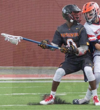 Sophomore midfielder Gerard Brown and Ursinus College have received much pre-season hype (Photo by Alan Simpson)