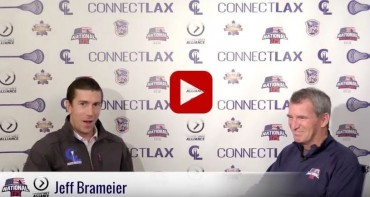 Nick Lattimore of Connect LAX speaks with National 175's Jeff Brameier (right)