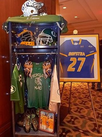 Nick Colleluori's equipment is showcased at the HEADstrong Gala
