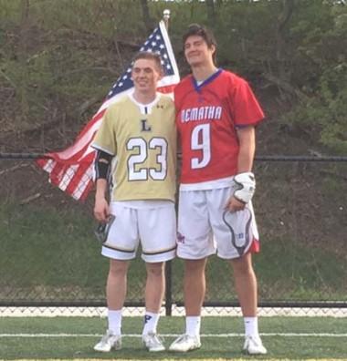 Fallen Heroes MVPs Colin Cahill (left, La Salle),
