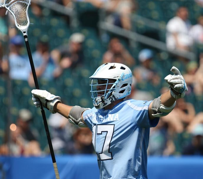 Abington grad Austin Pifani celebrates the win for the Tar Heels (Photos by Rene Schleicher)