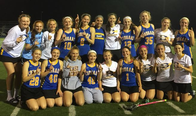 Downingtown East celebrates the Ches-Mont League title