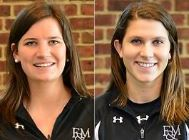 F&M's Gabby Frank (left), Stephanie Speese
