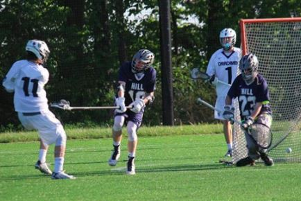 Episcopal Academy's Jake Martellucci scores for EA. He had five goals and two assists in the first round.