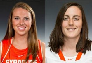Kelly Cross (left) and Allie Murray helped Syracuse reach the Final Four