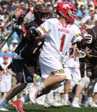 Matt Rambo had a career-high five assists, including the feed on the game-winning goal for the Terps (Photo by Rene Scvhleicher)