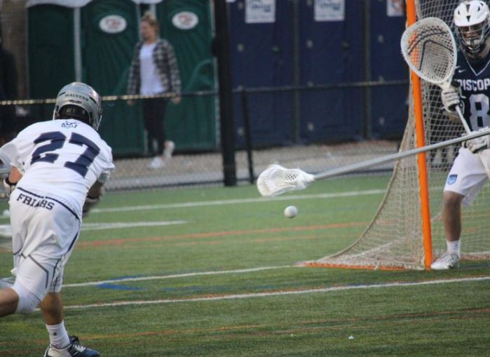 Scottie White shoots on goal in Malvern's 9-2 win over Episcopal Academy