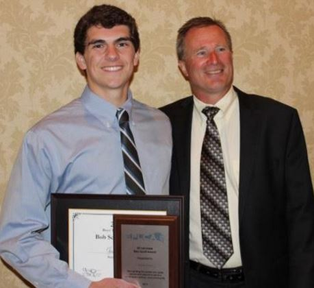 Bob Scott Award - Strath Haven's Jake Ross, and his coach Jef Hewlings