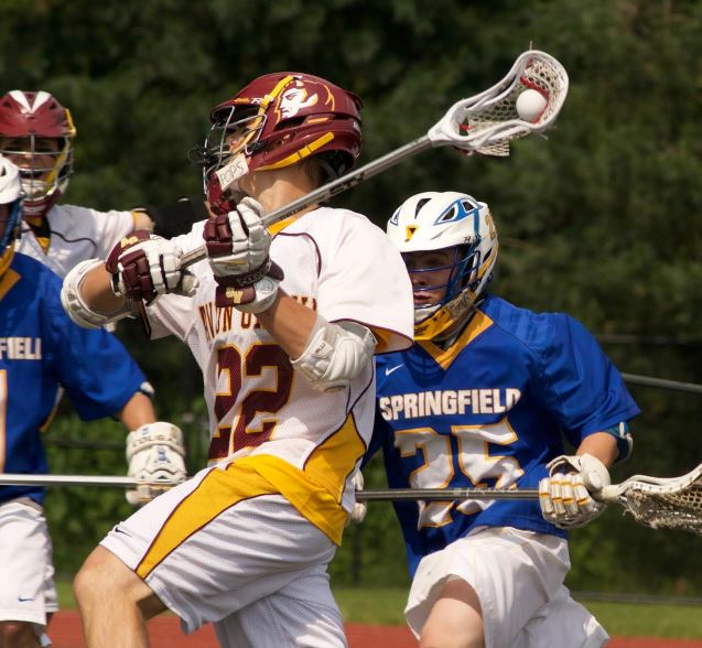 Avon Grove's Doug Jones fires on the goal (Photos by Alan Simpson)