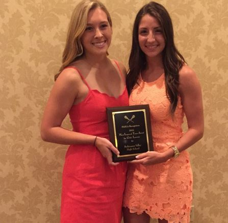 PASLA Most Improved Team Perkiomen Valley hristie (right) with fellow co-captain Mara Wrzesniewski