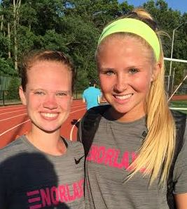 Radnor's Hope Smith (left), Abby Lord