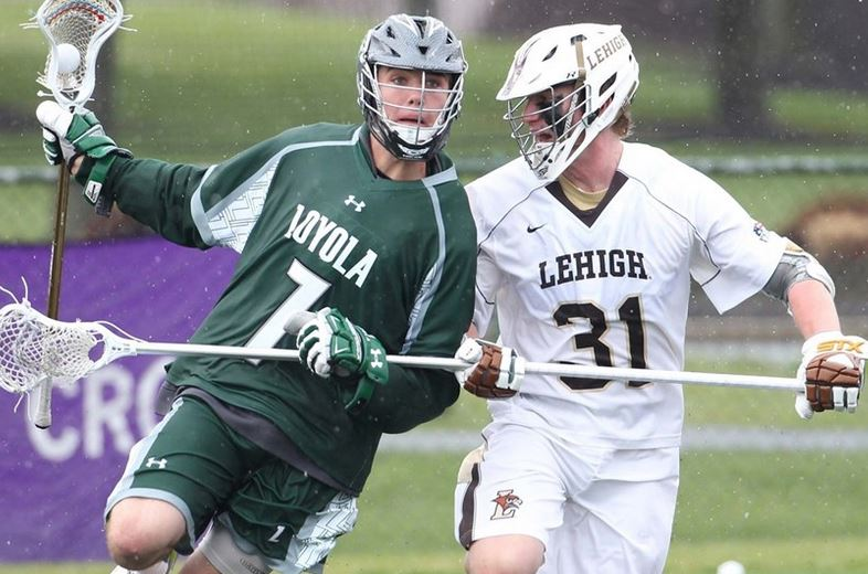 Casey Eidenshink (defending) - Photo courtesy of Lehigh Lacrosse