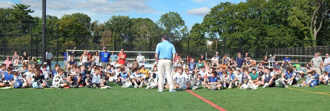 Pictured is famed Johns Hopkins coach Dave Petramala at a recent Ricky Whelan Clinic