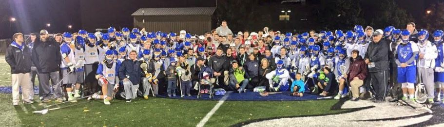 Players, coaches, organizers from the HEADstrong Foundation's Division 3 Scrimmages Saturday night at Cabrini University