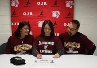 Owen J. Roberts' Anna Dempsey signs her NLI with Bloomsburg