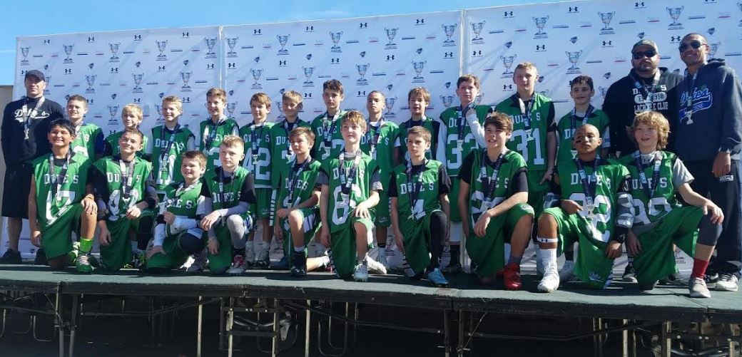 The Duke's Lacrosse Cub nationals U11 team wins the silver medal at the NDP lacrosse Dicks's Sporting Goods Tournament of Champions