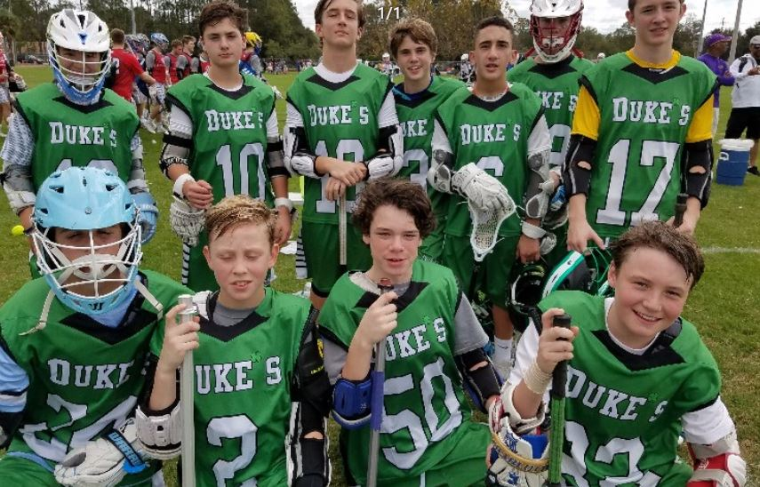 Duke's L.C. Nationals went 2-1 in the first day of play in the U13 Division at the NDP Lacrosse Dick's Sporting Goods Tournament of Champions