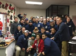 The Neumann University men's lacrosse team stuffed over 500